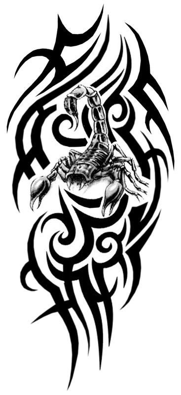 Тату эскизов рукав скорпионовэ